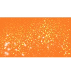 orange background with bokeh lights vector image vector image