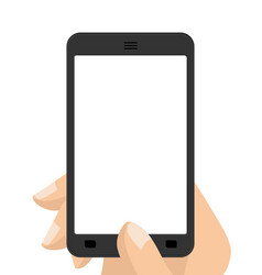 Photograph on smartphone hand holding screen vector