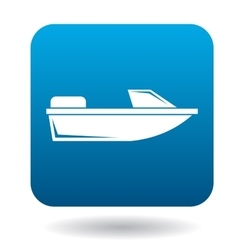 Powerboat icon in flat style vector
