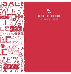 Sale seamless pattern square torn frame background vector image vector image