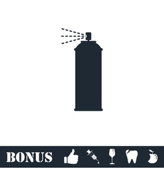 Spray icon flat vector
