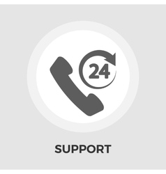 Support 24 hours flat icon vector image vector image