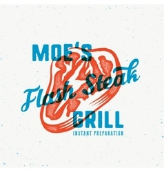 The flash instant steak abstract vintage vector