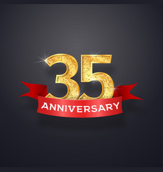 thirty-five anniversary logo template 35th years vector image vector image