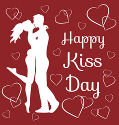 World kiss day vector