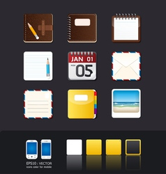 Apps icon set vector