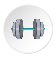 Dumbbell icon cartoon style vector