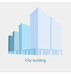 Logo silhouette of skyscrapers vector