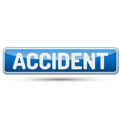 Accident - abstract beautiful button with text vector