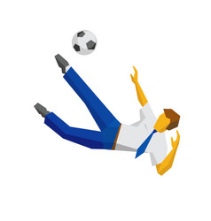 businessman kicking soccer ball vector image