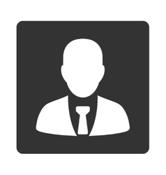 Businessman icon from commerce buttons overcolor vector