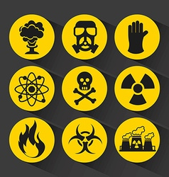 Nuclear icons vector