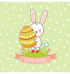 Card easter bunny vector
