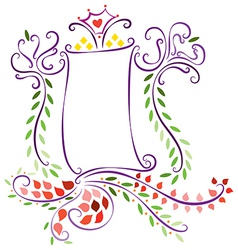 Decorative Floral Template 3 vector image