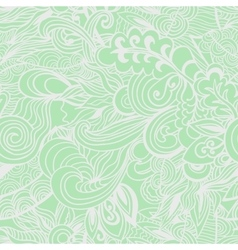 Pastel green floral seamless pattern vector