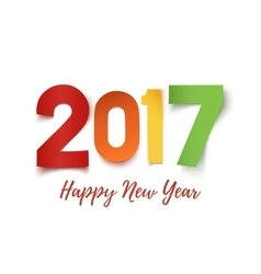 Happy new year 2017 background template vector