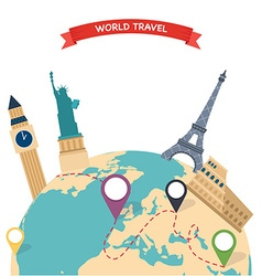 Travel to world trip to world road trip tourism vector