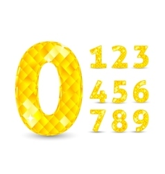Realistic with diamond numbers vector