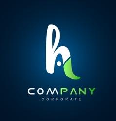 Alphabet letter H logo icon design vector image vector image