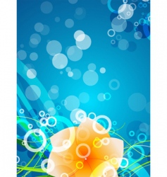 aqua element background vector image