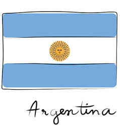 argentine flag doodle vector image vector image