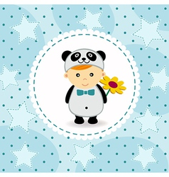baby boy in suit of panda vector image vector image