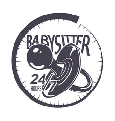 babysitter typography emblem vector image vector image