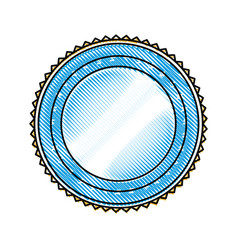 Badge label decoration stamp template vector