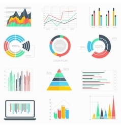 Business data infographic set vector