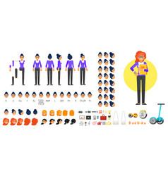 businesswoman character creation set vector image