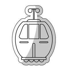 cable car transport gondola cut line vector image