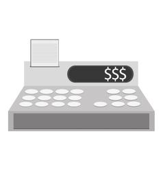 Cash register cashier flat icon vector