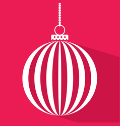 christmas ball in flat style vector image vector image