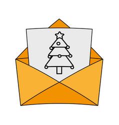 Christmas letter design vector
