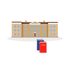 College building and book design flat vector
