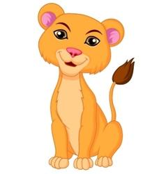 Cute lioness cartoon vector