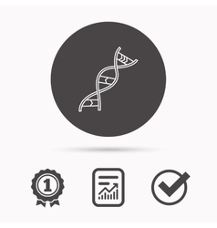 DNA icon Genetic structure sign vector image vector image
