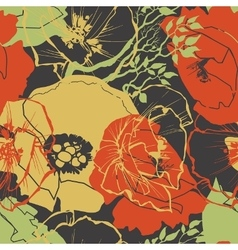 Flower pattern floral print vector image vector image