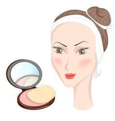 Girl with make up vector image