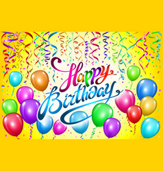 Happy birthday typography design for greeting vector