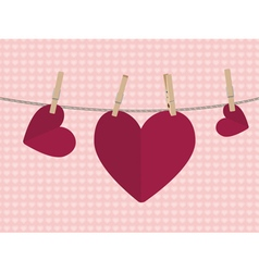 Heart on rope2 vector