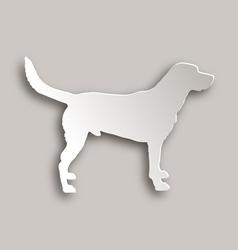 Labrador paper style vector