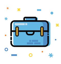 line art flat style application development vector image