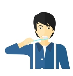 Man brushing teeth vector image