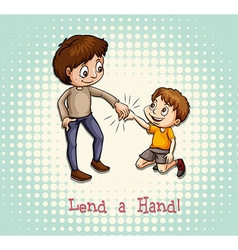 Man holding a childs hand vector