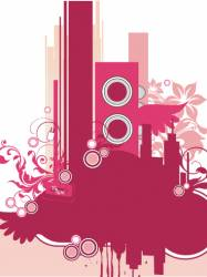 musical graphic background vector image
