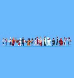 People group different occupation set employees vector