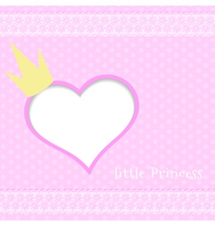 Pink background little princess vector image vector image