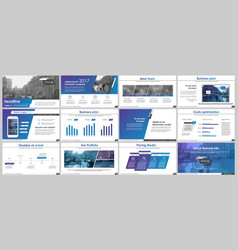powerpoint presentation templates vector image