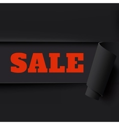 Sale black torn paper background vector image vector image